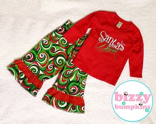 Santa's Diva Pant Set 24 Month - Crafty Christmas Blast