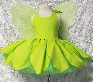 Bizzy Bumpkins Tinkerbelle Petals Skirt Dress with built in petticoat Halloween Costume Infant Baby Toddler Girl, Tinkerbelle Tinker Bell Costume Dress