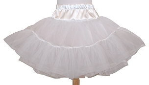 Bizzy Bumpkins Four Layer Organdy and Satin Fluffy Petticoat, Square Dance Petticoat for Twirly Skirt Dresses Infant Baby Toddler Girls Can Can Petticoat