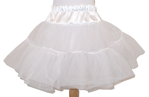 Bizzy Bumpkins Two Layer Organdy and Satin Fluffy Petticoat, Square Dance Petticoat for Twirly Skirt Dresses Infant Baby Toddler Girls Can Can Petticoat