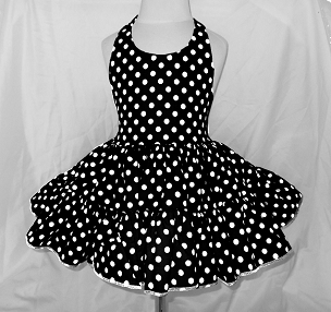 Bizzy Bumpkins Small Polka Dots Twirly Halter Dress Sundress with full ruffled skirt Infant Baby Toddler Girls Lots of Colors!