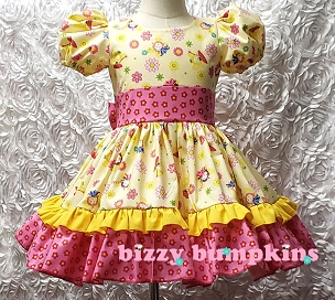 Bizzy Bumpkins Fairies and Flowers Fairy Print Ruffled Dress for Baby, Infant, Toddlers and Girls