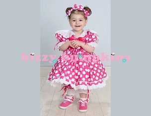 Hot Pink and White Polka Dot Baby Doll Eyelet Trim Sailor Shirley Temple Style Dress Set with Pantaloons and Hair Bows Baby Toddler Girls